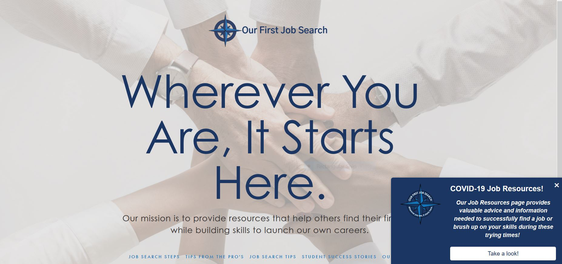 Our First Job Search
